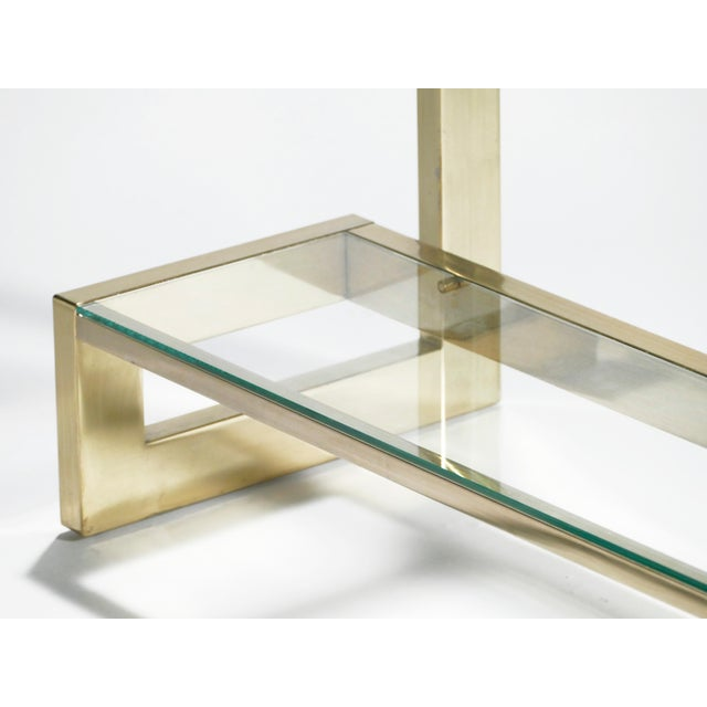 Guy Lefevre Pair of Large Brass Console Tables for Maison Jansen, 1970s For Sale - Image 10 of 11