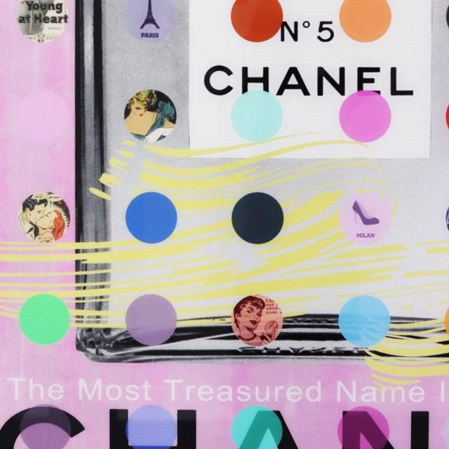 """Blue Nelson De La Nuez """"Chanel #5 Pink With Grey Bottle (118/125)"""" Original Painting For Sale - Image 8 of 11"""