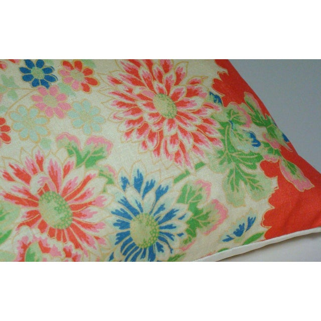Chinese Silk Floral Lumbar Pillow Cover For Sale In Milwaukee - Image 6 of 9