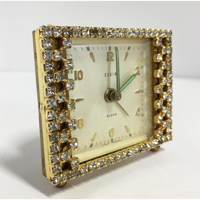 Elgin West Germany Rhinestone Alarm Clock - Image 3 of 7