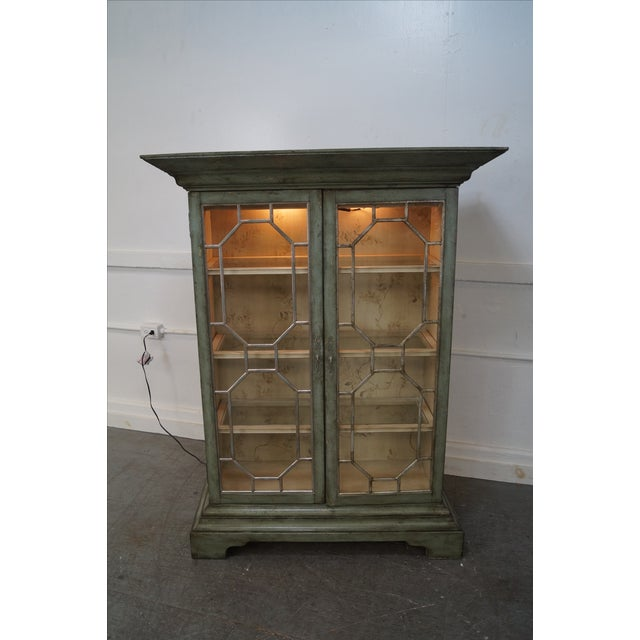 Colonial Williamsburg Architectural Curio Cabinet For Sale - Image 10 of 10