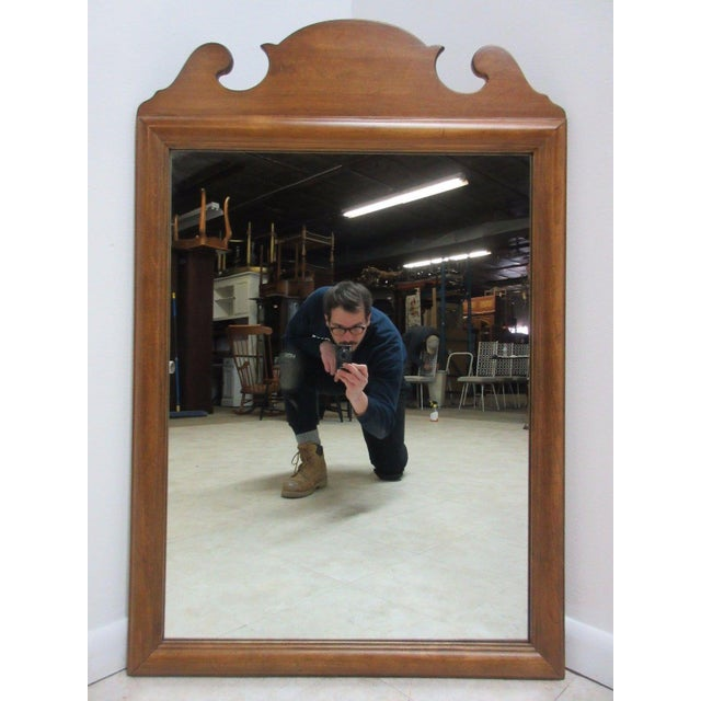 1776 Ethan Allen Dresser Hanging Wall Mirror For Sale - Image 10 of 10
