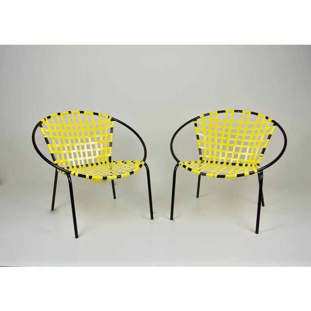 Mid-Century Patio Hoop Chairs - A Pair - Image 2 of 5
