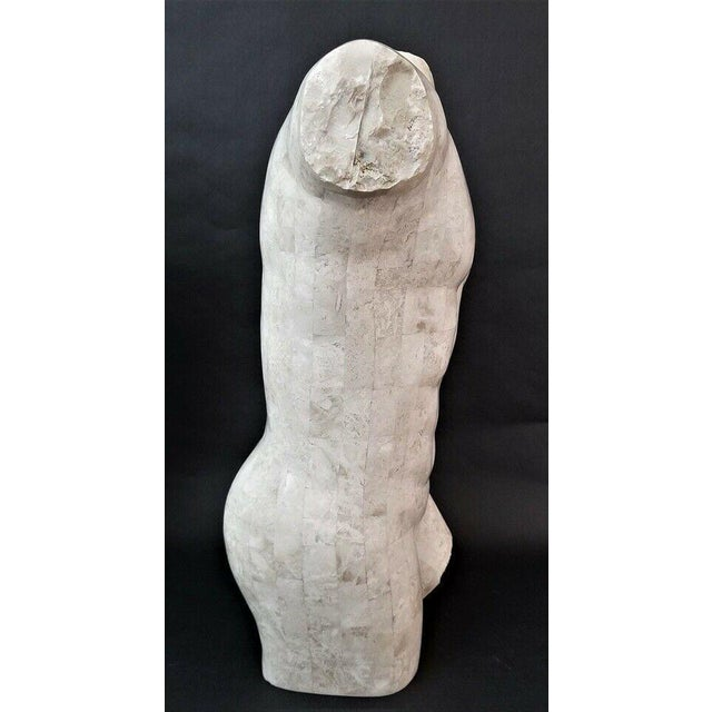 1990s Marquis Collection Of Beverly Hills Tessellated Stone Male Nude Torso For Sale - Image 5 of 7