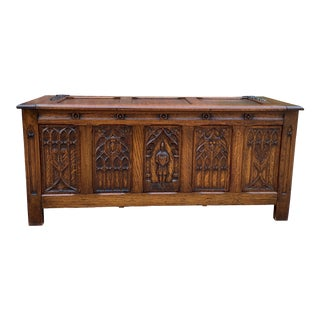 Antique French Trunk/Blanket Box For Sale