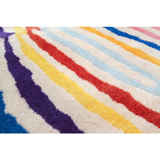 Contemporary 'Fruit Stripe' quagga carpet in wool. For Sale - Image 3 of 5