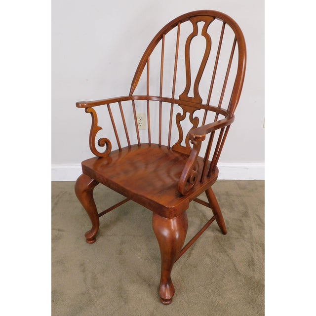Brown Bob Timberlake Lexington Furniture Set 4 Cherry Windsor Dining Chairs For Sale - Image 8 of 13