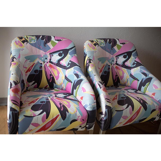 1990s 1990s Vintage B & B Italia Modernist Designer Club Chairs - A Pair For Sale - Image 5 of 7