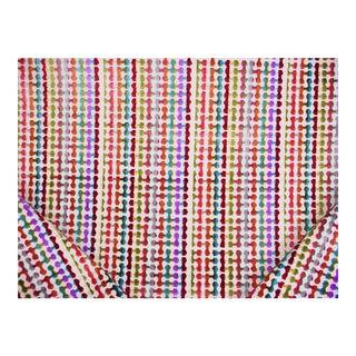 Contemporary Kravet Rainbow Connected Polka Dot Velvet Drapery Upholstery Fabric - 2y For Sale