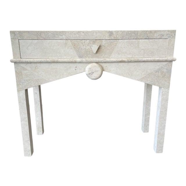 Art Deco - Post Modern Limestone Console Table For Sale