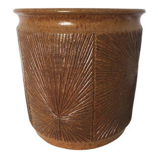 Robert Maxwell and David Cressey Glazed Earthgender Cylindrical Planter For Sale
