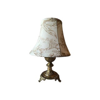 Swedish Gustavian Style Lamp With Country Shade For Sale