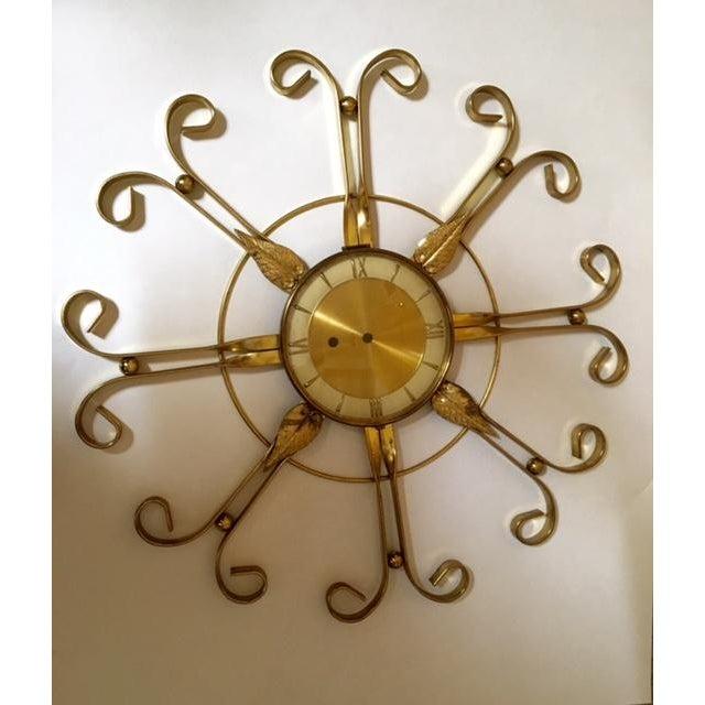 Mid Century Modern Hollywood Regency Atomic Clock - Image 9 of 11