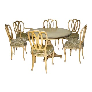 Vintage French Provincial Breakfast Table & Chairs Set For Sale