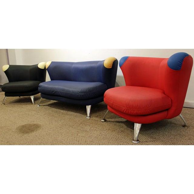 3-Piece Mid-Century Italian Modern Sofa Loveseat/Lounge Chair Set - Image 3 of 11