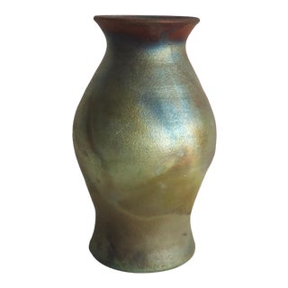 20th Century Organic Modern Redmond Raku Ceramic Vase
