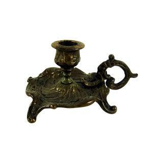 Bronze Art Nouveau Chamber Candlestick