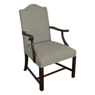 Hickory Chair Mahogany Chippendale Style Library Am Chair For Sale