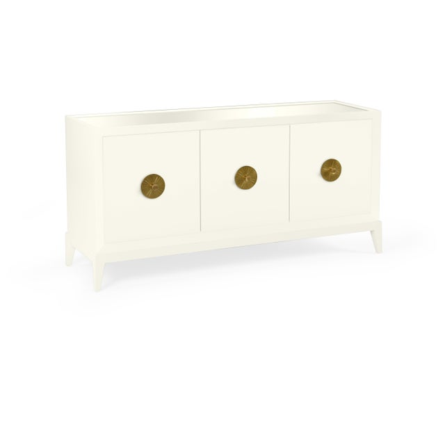 Transitional Casa Cosima Hayes Sideboard, Cloud White For Sale - Image 3 of 5