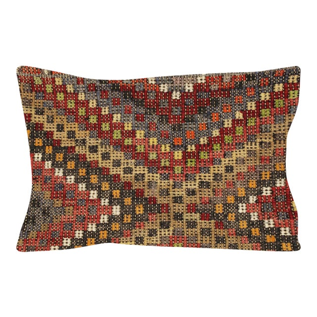 "Nalbandian - 1960s Turkish Jijim Pillow - 16"" X 23"" For Sale"