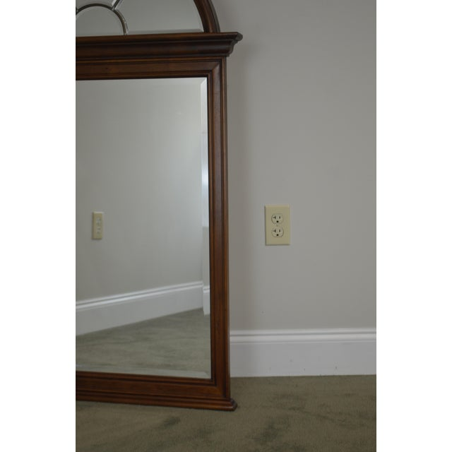 Traditional Lexington Cherry Arch Top Beveled Mirror For Sale - Image 3 of 13