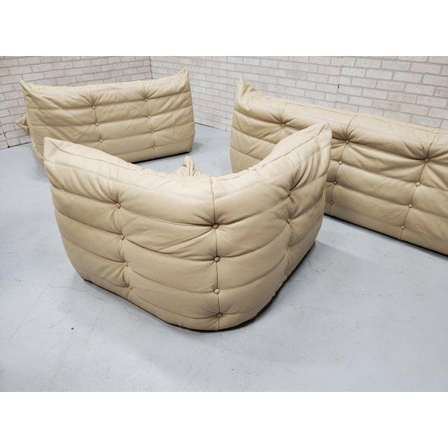 1970s Mid Century Medern Togo Sofa Set by Michel Ducaroy for Ligne Roset - 5 Piece Set For Sale - Image 5 of 11