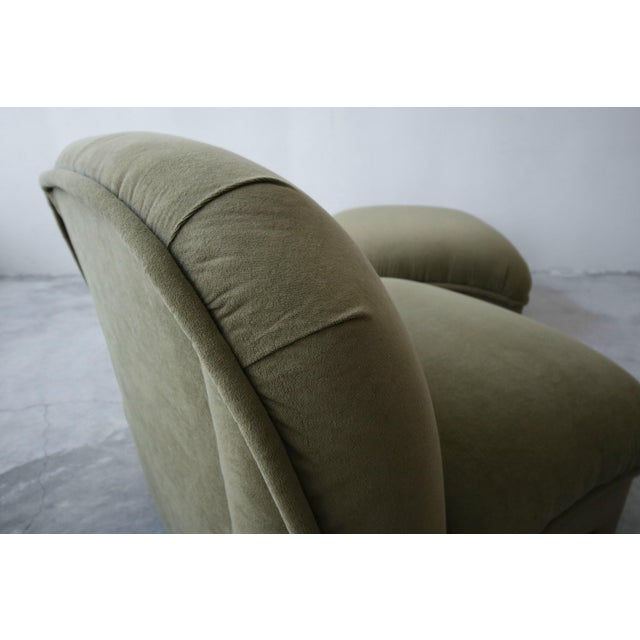 1980s Post Modern Slipper Lounge Chair and Ottoman For Sale - Image 5 of 8