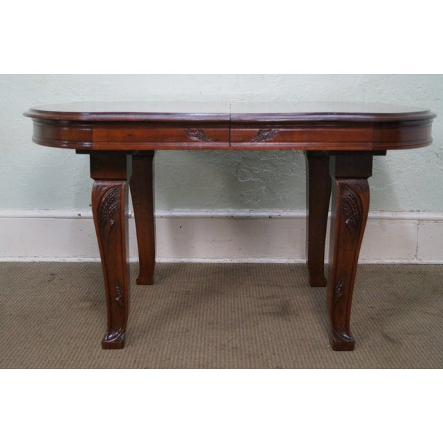 Antique French Art Nouveau Walnut Dining Table For Sale In Philadelphia - Image 6 of 10