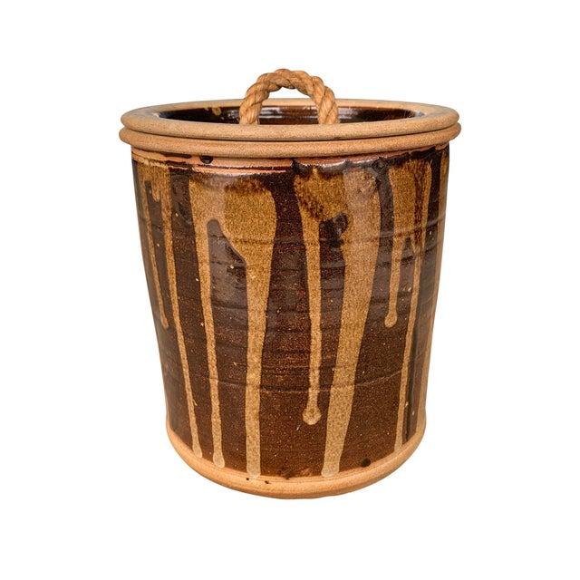 Vintage Studio Pottery Lidded Jar For Sale - Image 13 of 13