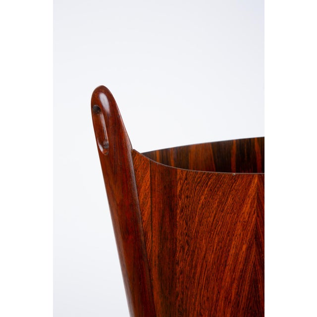 Norwegian Rosewood Wastebasket by Einar Barnes for P.S. Heggen For Sale - Image 10 of 12