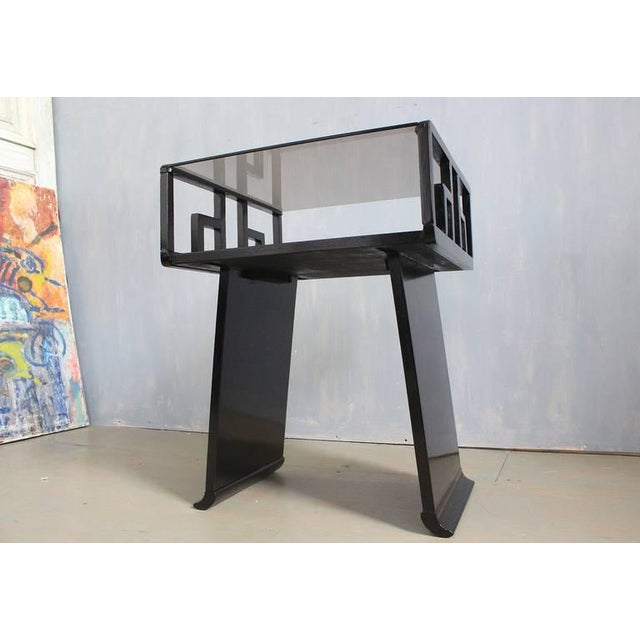 Black Pair of Mid-Century Modern Nightstands For Sale - Image 8 of 11