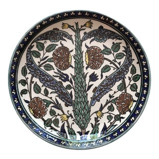 20th Century Handpainted Pottery Plate From Jerusalem