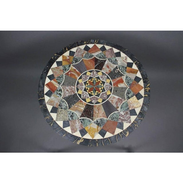 Gray Etruscan Revival Specimen Marble Table For Sale - Image 8 of 8