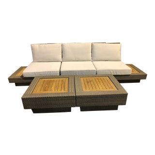 David Francis Outdoor Sectional - Set of 6 For Sale