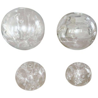 Three Large Art Glass Spheres by Peter Bramhill For Sale