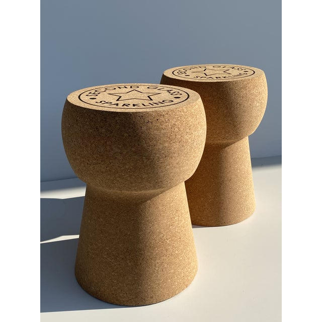 Champagne Cork Stool/Side Table For Sale - Image 11 of 13