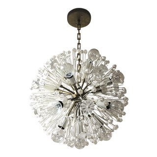 Vintage Crystal Flower Sputnik Chandelier For Sale