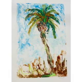 "Colette, French Painter ""California Palm""monotype on Paper For Sale"