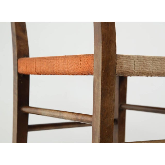Birch Axel Larsson Webbed Chair for SMF Bodafors, Sweden, 1929 For Sale - Image 7 of 9