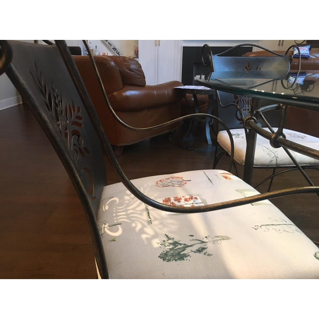 Harden Wrought Iron Glass Top Dining Set - Image 7 of 8