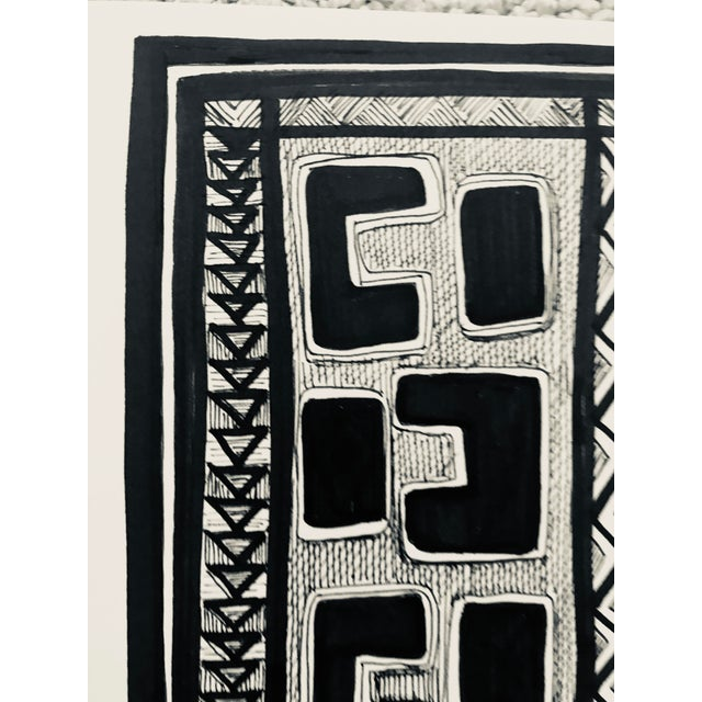 "2010s Original "" Congo"" Pen & Ink Drawing For Sale - Image 5 of 7"