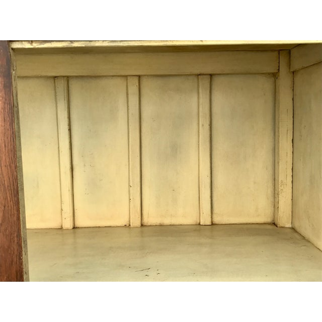 Antiqued Reclaimed Library Wood Vitrine For Sale - Image 9 of 11
