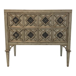 Transitional Ambella Home Gray Wood Cadella Chest of Drawers For Sale