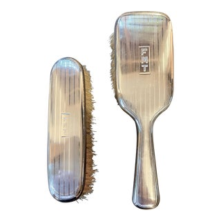 1920s Cartier Sterling Silver Brushes - Set of 2