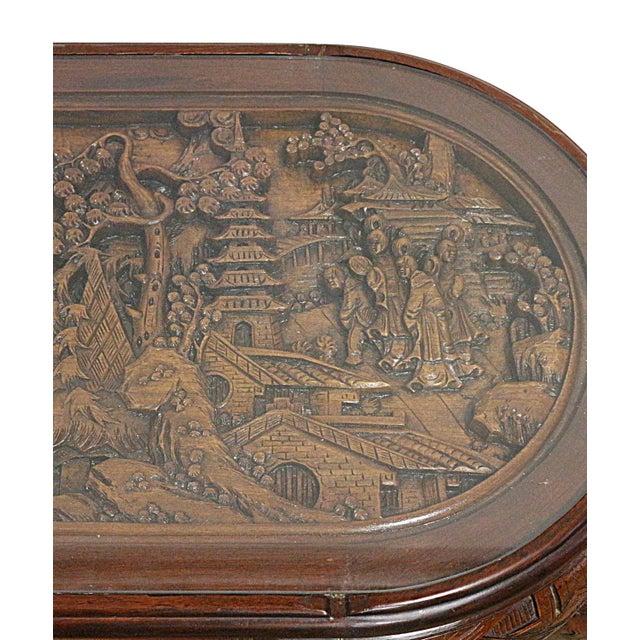 Vintage Chinese Tea Table & Stools - Image 3 of 5