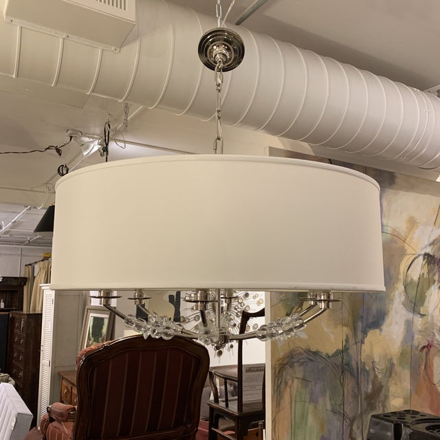 Crystorama 'Mirage' Drum Six-Light Pendant Chandelier For Sale - Image 13 of 13