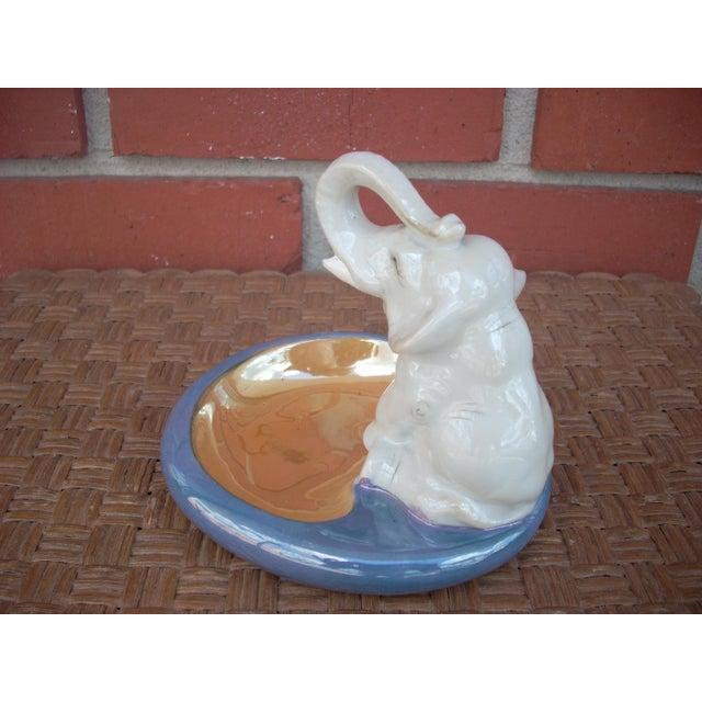 Asian Ceramic Elephant Ashtray For Sale - Image 3 of 4