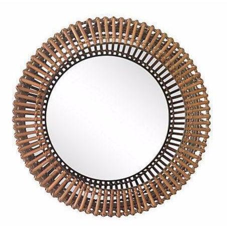 Rattan Albini-Style Round Mirror - Image 1 of 4
