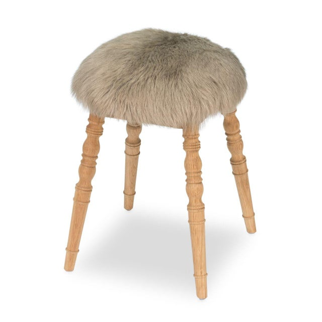 Estimated Retail Price: $594. The 'Winoma' stool is made from wood in a clear drift soap finish. Upholstered in a beige...