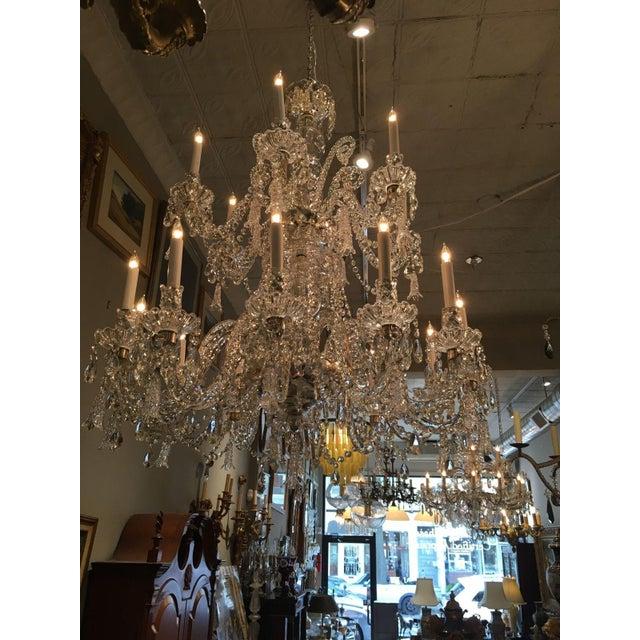 Antique Cut Crystal 18 Light Chandelier - Image 7 of 11
